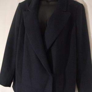 Women's DKNYC Size 10 Navy Double Breasted Blazer